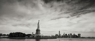 Graytscale Photo of Statue of Liberty Royalty Free Stock Photography