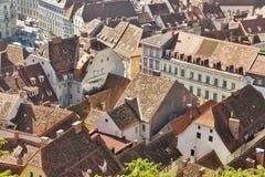 Graz aerial cityscape, Austria Royalty Free Stock Image