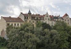 Graz ancient residential architecture, Austria stock photos