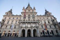 GRAZ, AUSTRIA: Ayuntamiento de Graz - la plaza principal de Hauptplatz de Graz, Estiria, Austria, junio de 2017 Imagen de archivo