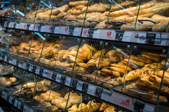 Graz, Austria - June 10th 2017 - Fresly baked pastry at a Billa stock photography