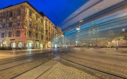 Graz bij nacht Royalty-vrije Stock Foto's