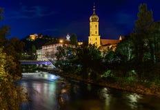 Graz bij nacht Royalty-vrije Stock Foto