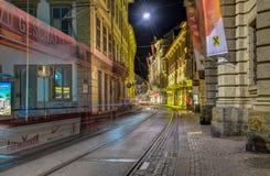 Graz bij nacht Stock Foto's