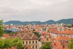 Graz City Overview – Cloudy Stock Photos