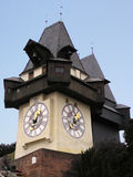 Graz Clock (Austria) Royalty Free Stock Photography