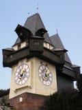 Graz Clock (Austria). The clock tower at Graz, Austria royalty free stock photography