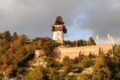 Graz Clock Tower Stock Photography
