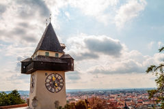 Graz Clock Tower Royalty Free Stock Image