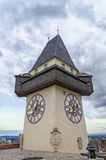 Graz Clock Tower Royalty Free Stock Photography