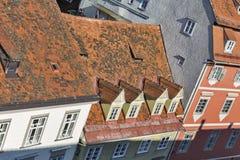 Graz downtown cityscape aerial view, Austria. Royalty Free Stock Photos