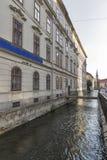 Graz downtown water canal, Austria Stock Photo