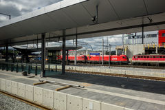Graz Hauptbahnhof (train station) Royalty Free Stock Photos