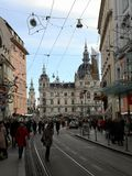 Graz i vinter fotografering för bildbyråer