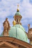 Graz Kaiser Ferdinand II Mausoleum. Rooftop Statues stock images