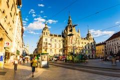 Graz miasta Austria turystycznego punktu urzędu miasta hauptplatz miasta kwadrat Zdjęcie Stock