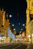 Graz by night. Royalty Free Stock Photo