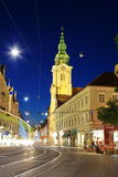 Graz by night. Royalty Free Stock Images