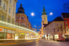 Graz By Night, Austria Stock Photos