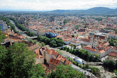 Graz panorama Royalty Free Stock Images