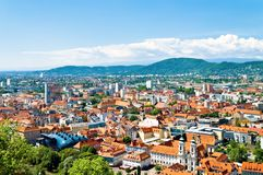 Graz panorama obraz stock