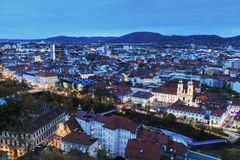Graz panorama from Castle Hill Royalty Free Stock Photo