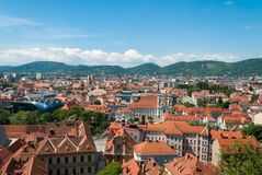 Graz panorama Royalty Free Stock Photo