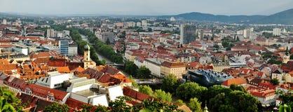 Graz panorama Stock Photography