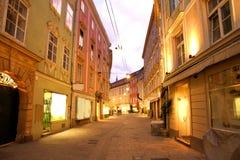 Graz par nuit Images stock