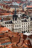 Graz roofs and City Hall Royalty Free Stock Photo