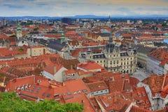 Graz stad i Österrike Royaltyfri Fotografi