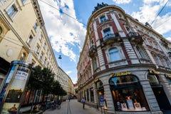 Graz Tchibo enduscho building Royalty Free Stock Photography