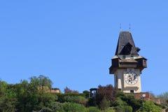 graz uhrturm Fotografering för Bildbyråer