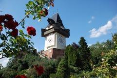 Graz - Uhrturm Stockbild