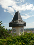 Graz - Uhrturm Fotos de Stock Royalty Free
