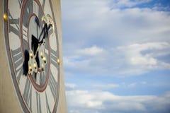 Graz Uhrturm (tour d'horloge) Photos libres de droits