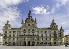 Graz urząd miasta na niebieskiego nieba tle Zdjęcie Royalty Free