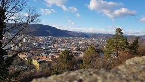 Graz view of Schlossberg / Landscape City royalty free stock photography