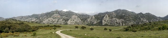 Grazalema naturalny park w prowinci Cadiz, Andalusia, Hiszpania obraz stock