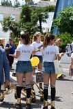 Grazia befordran på den Cannes filmfestivalen Royaltyfri Foto