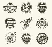 Grazie badge il logo Fotografie Stock Libere da Diritti