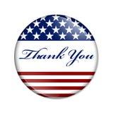 Grazie bottone di U.S.A. Fotografia Stock
