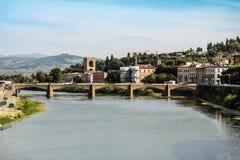 Grazie-Brücke Florenz Italien Stockbilder