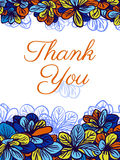 Grazie cardare con i fiori colourful Invito di cerimonia nuziale Fotografia Stock Libera da Diritti
