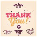 Grazie cardare - Vector il fondo tipografico EPS10 Immagini Stock