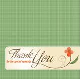 Grazie cartolina d'auguri Immagine Stock Libera da Diritti