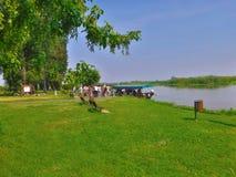 Grazie di Mincio del fiume a Montanara Mantova Fotografia Stock
