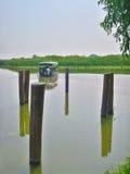 Grazie di Mincio del fiume a Montanara Mantova Fotografie Stock Libere da Diritti