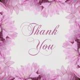 Grazie - fiori e testo isolati su bianco illustrazione vettoriale