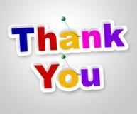 Grazie firmare indica le molte grazie ed apprezzano Fotografia Stock Libera da Diritti